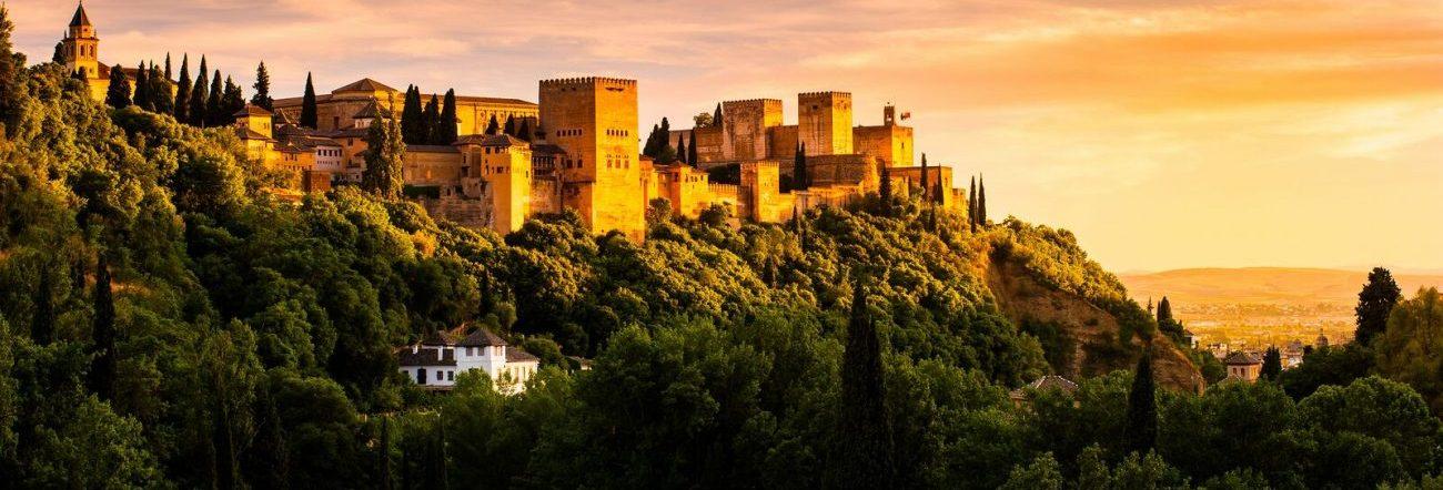 Sunset at Alhambra Spain