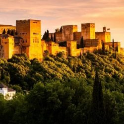 Sunset at Alhambra Spain
