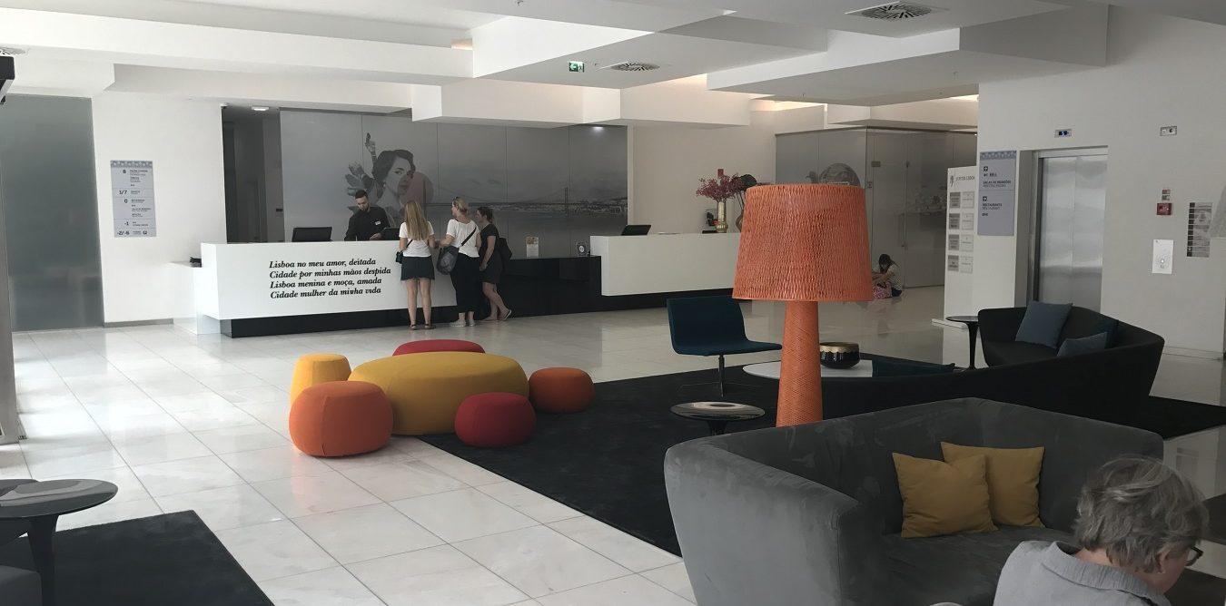 Lisbon hotel lobby
